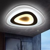 bedroom ceiling light - Acrylic Lliving room bedroom modern led ceiling lights luminarias para sala dimming led ceiling lamp deckenleuchten