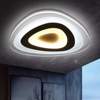Precio de Montaje en el techo accesorios de iluminación-Lámpara de techo ultra delgada moderna Luz de montaje empotrada Lamparas Techo Luminaria Led para iluminación de dormitorio infantil