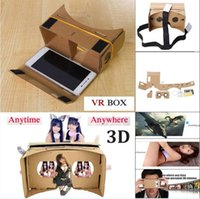 Wholesale Google Cardboard VR Virtual Reality D Glasses Storm Mirror DIY Kit and Head Mount strap For iphone S plus s SE samsung s6 s7 edge New
