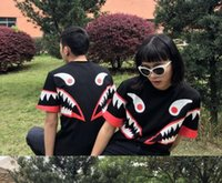 Cheap Harajuku new 2016 men women's t shirt print Camouflage camo shark short sleeve summer casual tops tee lover shirts