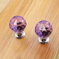 ball door knobs - 10PCS Set Diameter mm Round Crystal Glass Ball Design Handle Knobs Alloy Door Drawer Cabinet Wardrobe Pull Drop Shipping