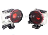 Wholesale 2014 new arrivel mm Red Diving Lens Full Color Filter for Gopro Hero HD Camera amp