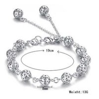 ball and chain coppers - And Retail Women Silver Bracelet Chain Silver Ball Chain Jewelry Factory