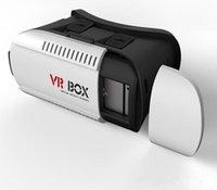 Wholesale 2016 Original Virtual vr glasses BOX Glasses D Glasses Bluetooth Controller Gamepad Google Cardboard D Movie for smartphone DHL