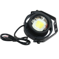 automotive strobe lights - COB Angel Eyes W Strobe Flash Bull Eye LED DRL Projector White Fog Working Lamp Daytime Running Lights Automotive LED Lens