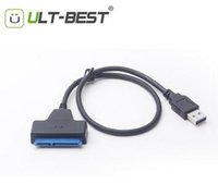 best sata ssd - ULT BEST Hot selling Super Speed USB To SATA Pin Inch Hard Disk Driver SSD Adapter Cable Converter DHL fast