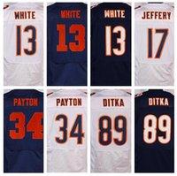 best mike - Best quality jerseys Men s Kevin White Alshon Jeffery Kyle Fuller Walter Payton Mike Ditka elite jerseys White Blue