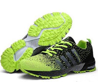 army running shoes - 2016 Men Sneakers Comfortable Running Shoes For Men Breathable Fabric Outdoor Sports Shoes Autumn And Winter Size