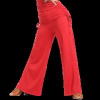 adult ruffle pants - 2017 Professional ballroom costume training dress performance wear Latin dance trousers for women female adult practice pants