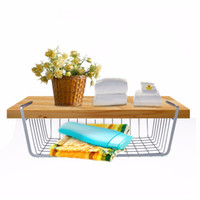 baskets for shelves - New cm Wire Under Cabinet Wire Hanging Basket Shelf Organizer Rack Easily slides under shelves for extra cabinet storage