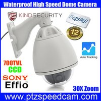 ptz auto tracking - High Speed Dome PTZ Camera with x zoom CCD TVL Waterproof outdoor auto tracking