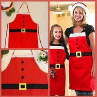 baked goods sale - Christmas Decoration Santa Apron Home Kitchen Cooking Baking Chef Red Apron Good Quality Brand New Hot Sales