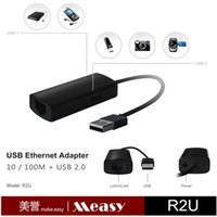 Wholesale Measy USB to RJ45 M Lan WLAN USB Ethernet Network Adapter Port Hub for Mac OS Android Tablet pc Win XP
