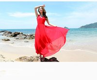 Wholesale woman new chiffon maxi dress v neck sexy dress woman beach dress party dress summer dress