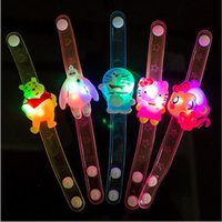 Wholesale kids bracelet watch with led light kids wristbands