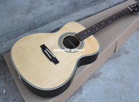 Wholesale price New Hot Sale OEM inches Acoustic Guitar with Mahogany Guitar Neck Picea Asperata Body Chrome Hardwares Offer Customized