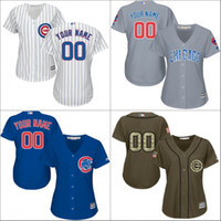 Wholesale 2016 World Series Champions patch custom Women s Chicago Cubs baseball jerseys Cool Base Stitched size S XL