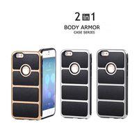armor bodies - For IPhone S Case Body Armor Case Iphone S Plus Armor Hybrid Hard Plastic TPU Case For iPhone6S plus Case With Opp Package