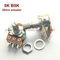Wholesale Duplex Potentiometer stereo K B5K mm actuator length WH148 side adjustment
