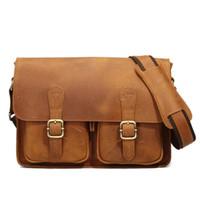 backpacks briefcases - Vintage Cover Genuine leather single shoulder bag business leisure briefcase men cross body bag