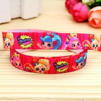 baby shop items - 5 quot mm Pink Shop Girls Fold Over Elastic FOE Printed Ribbon for Hair Bow DIY Craft Baby Item A2 F