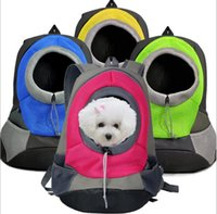 bicycle backpack carrier - Pet package out carrying case pet dogs and cats out of the backpack shoulder bag chest