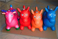 abs resin manufacturers - Jumping Maccabees thick to increase children s musical toys inflatable horse jumping large deer manufacturers