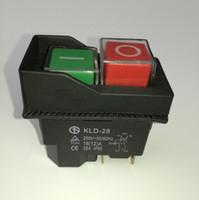al por mayor electrical switch-Impermeable solenoide del interruptor de bloqueo magnético del envío libre el interruptor del interruptor para el equipo eléctrico IP55 250V KLD-28A de partida