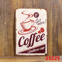 Wholesale COME ON COFFEE Tin Sign Bar pub home Wall Decor Retro Metal Art Poster