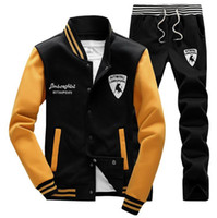 Wholesale High Quality Men Tracksuit Spring Autumn Winter New Pattern Male Sweat Suit Long Sleeve Baseball Man Pants Sweatshirt Set