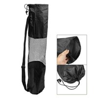 Wholesale Super sell Portable Lightweight Exercise Yoga Mat Bag Carrier Mesh Center Pilates Black