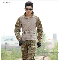 Cheap Wholesale-Best selling Multicam Woodland ACU ATACS camo Combat Uniform Gen3 shirt + pants Military Army Suit with knee pads