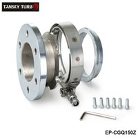 al por mayor tubo de escape ss-Tansky -NEW SS de 6 tornillos de acero inoxidable Turbo / Intercooler / Turbo de escape hacia abajo abrazaderas de tubo de salida V-band + Brida EP-CGQ150Z