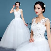 Wholesale In Summer The New Tutu Pure White Lace Wedding Shoulders Decal Diamond Bride Married Skirt Gauze Sequins Thick Forging Wedding B