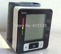Wholesale BP Monitor Automatic Digital Wrist Blood Pressure and Pulse Monitor Sphygmomanometer Portable Blood Pressure Monitor Free Ship