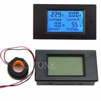 Wholesale Consumer Electronics Shop Hot New AC V LCD Digital A Volt Watt Power Meter Ammeter Voltmeter