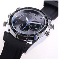 Wholesale New HD P IR Night Vision GB Waterproof Watch Camera SPY DVR Camcorders Cam fast delivery with retail package