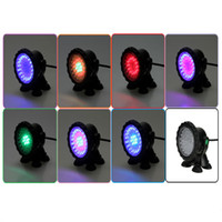 Wholesale Free EU UK Plug Multi color LED Waterproof Underwater Degree Rotation Spot Light with Suction Cups For Aquarium Fish Tank