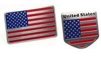 american aluminum doors - Auto Accessories Car Sticker Emblem Badge Aluminum alloy Sticker x50mm x50mm American Flag