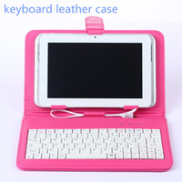 asus pad pc - Universal Tablet PC Cover Micro USB Port Keyboard Case for tablet pc Inch Tab with Stand Holder OTG PU Leather Cases