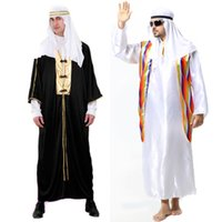 arab clothes men - Hot Selling Halloween Clothes Masquerade Arab Sheikh Prince King Clothing Carnival Cosplay Costume for Men SW0330