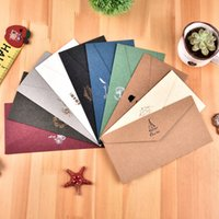 Wholesale 2016 High End Vintage Envelopes Gold Foil Paper Envelopes designs Personalized Packing Envelope Invitation Mail Bag