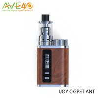 ant kit - IJOY Cigpet Ant W TC Starter Kit with w vape mods TC box mod kits with Ant atomizer fit to ohm ecigarette vaporizer