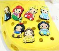 animal print mules - Types Cute Shoes Accessories Snow White Frozen Shoes Buckle Charms Mules Shoe Decoration Wrisband Christmas Gift