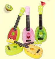 Wholesale Cute kids guitar Fruit guitar Children musical instruments Early childhood educational toys Acoustic optic simulation guitar