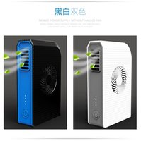 Wholesale Portable Bladeless Fan Power Source Station with Real Capacity mah Mini Summer Cooler Fan Power Bank A Output