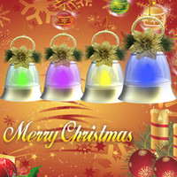 bell light box - Christmas decorations V new bell lights silver gold Christmas tree pendant colorful bells Material PC box package