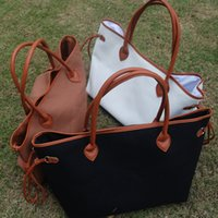 beach closure - Blanks Canvas Tote Solid Faux PU and Cotton Purse with PU Handle and Magnetic Snap Closure DOM106369