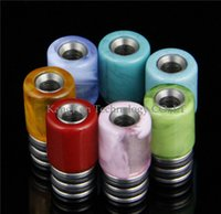 applied steels - Electronic Cigarette Atomizer Nozzle Drip Tip Stainless Steel and Resin Drop Nozzle E Cigarettes Applies Colorful Optional
