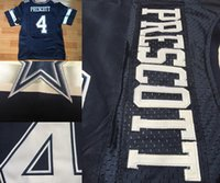 Wholesale Dak Prescott Dez Bryant Tony Romo Sean Lee Jason Witten Ezekiel Elliott White blue Elite throwback jerseys
